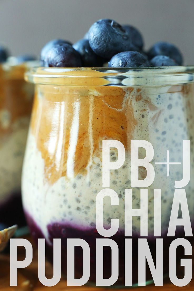 Peanut Butter and Jelly Chia Pudding - Minimalist Baker