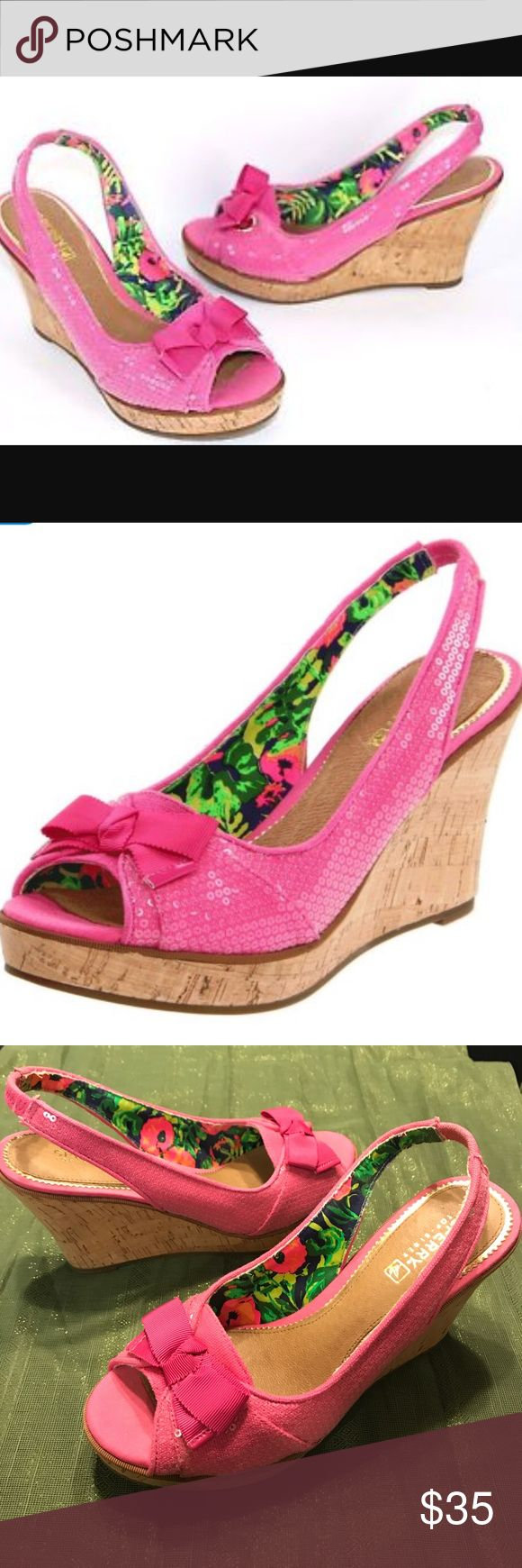Pink sperry wedges Sperry top sider neon  pink southsea wedges  Size 6  New without box Sperry Top-Sider Shoes Wedges