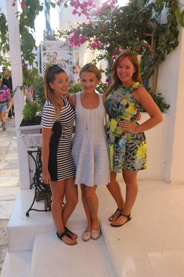 Me, Niomi & Tanya in Santorini. Had such an amazing time. www.zoella.co.uk