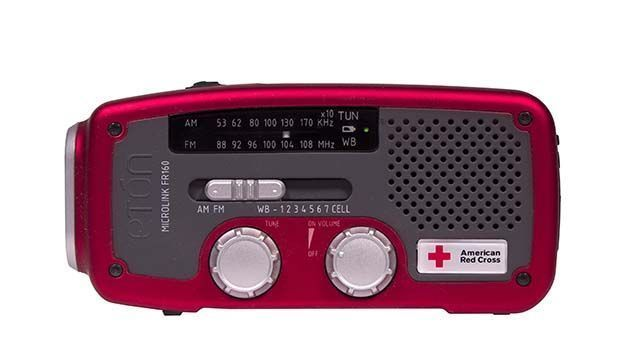 American Red Cross weather radio. | https://survivallife.com/hurricane-safety-tips/