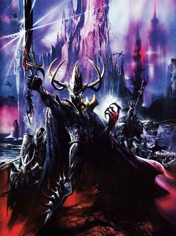 Dark Elf Malekith (Warhammer FB)