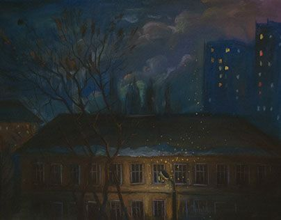 "Check out new work on my @Behance portfolio: ""Night. Winter. School."" http://be.net/gallery/43676241/Night-Winter-School"