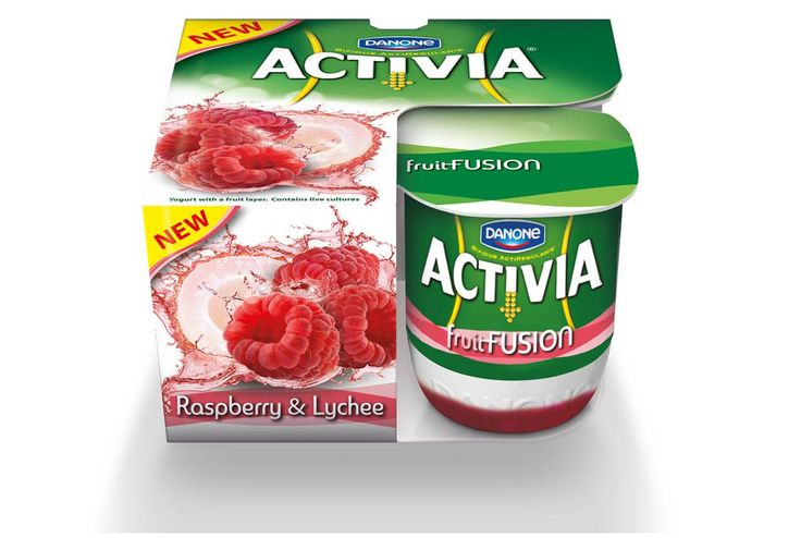 Dannon activia fruit fusion 4 pack only 130 each wyb 2