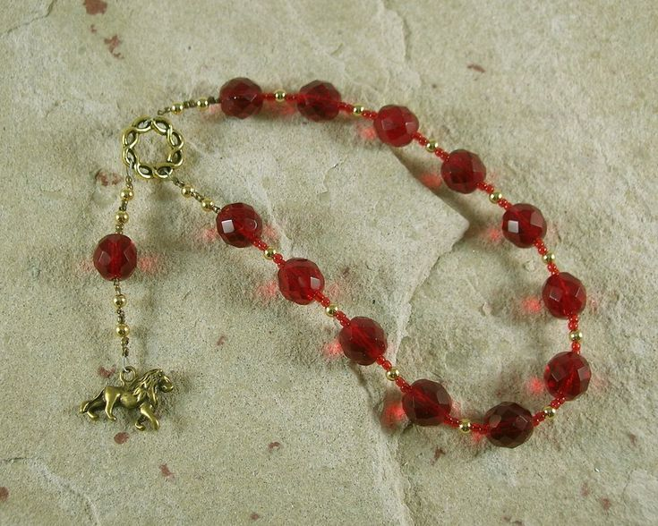 Sekhmet Pocket Prayer Beads: Egyptian Goddess of Healing, War, Justice and Vengeance
