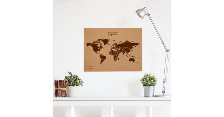 Negozio Online Misswood.it ✓ Mappamondo di Sughero da 29,90 € ✓ Compra la mappa politica del mondo ✓ Entra e acquista!