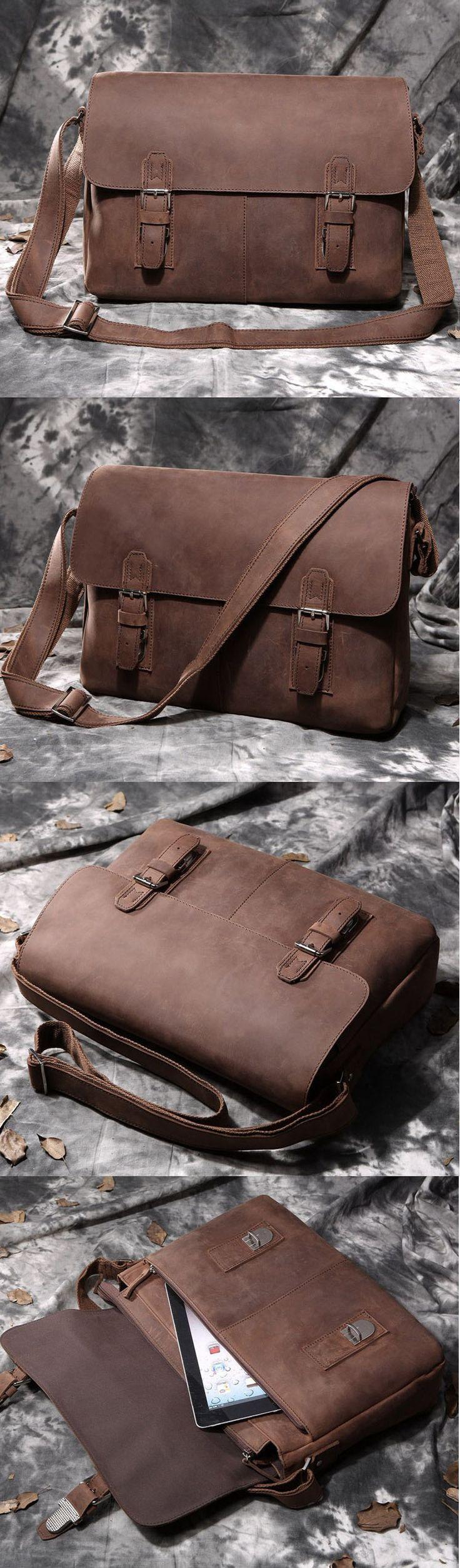 "Arrogance Crazy Horse Leather Hard Briefcase Messenger 13"" 15"" Macbook Laptop Bag Valentine's Gift - ladies bag collection, ladies bags sale, cheap designer crossbody bags *sponsored https://www.pinterest.com/bags_bag/ https://www.pinterest.com/explore/bag/ https://www.pinterest.com/bags_bag/radley-bags/ https://www.tradesy.com/bags/"