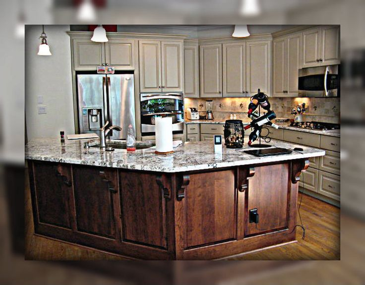 Multiple Finishes Kitchen Remodeal Atlanta, GA 2013. POGUE CABINETS.  770 975