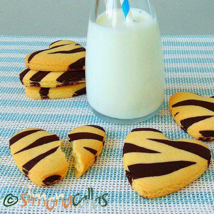 Fursecuri Zebra reteta de post / Biscuiti animal print - simonacallas