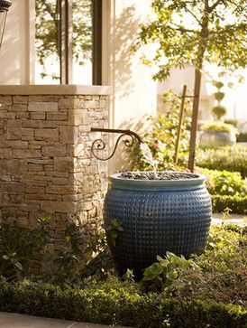 Mediterranean Exterior Fountains Wall Design Ideas, Pictures, Remodel, and Decor - page 15