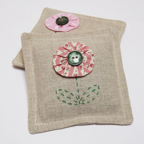 Daisy Suffolk Puff Lavender Sachets  Set of Two by ArtyThreads, £15.00