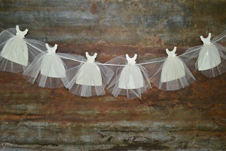 Bride Gown Banner Wedding Bridal Shower by LottieElizabeth