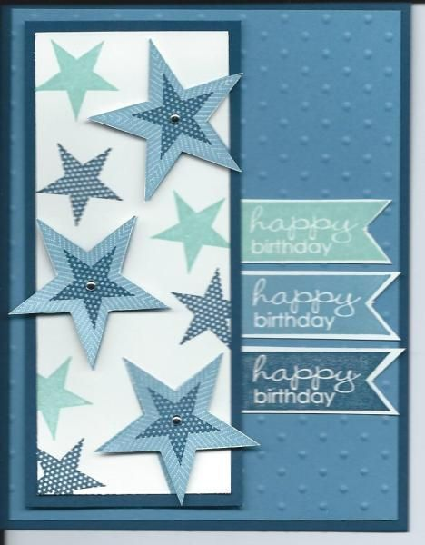 Star Birthday by lkarr309 - Cards and Paper Crafts at Splitcoaststampers