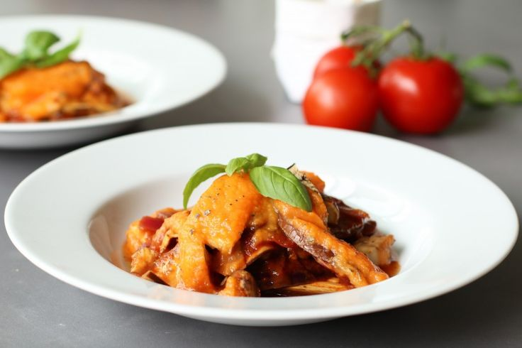 Vegan lasagne van aubergine met zoete aardappelsaus, Vegan hoofdgerechten, Vegan avondeten, Veganistische recepten, Gezonde lasagne, Gezonde foodlogs, Glutenvrije foodblogs, Beaufood recepten