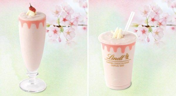 リンツカフェに早くも春が咲く--「ホワイトチョコレート サクラアイスドリンク」