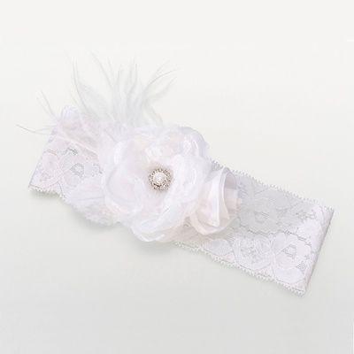 White Vintage Lace Wedding Garter I love it!
