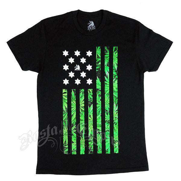 My Pot American Flag T-Shirt design. Available at Rasta Empire.