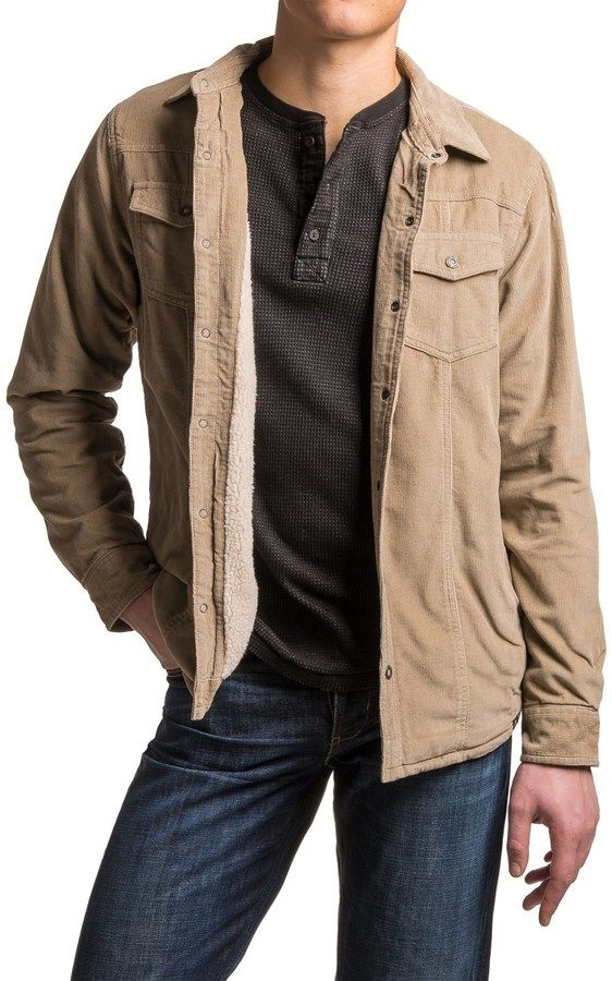 Prana Gomez Corduroy Jacket - Insulated Sleeves, Snap Front (For Men)