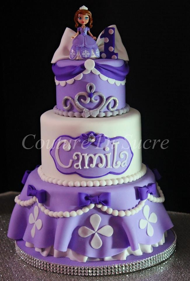 Sofia the first birthday cake 25