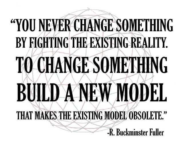 When you think change is needed, be generative, expand your thinking.