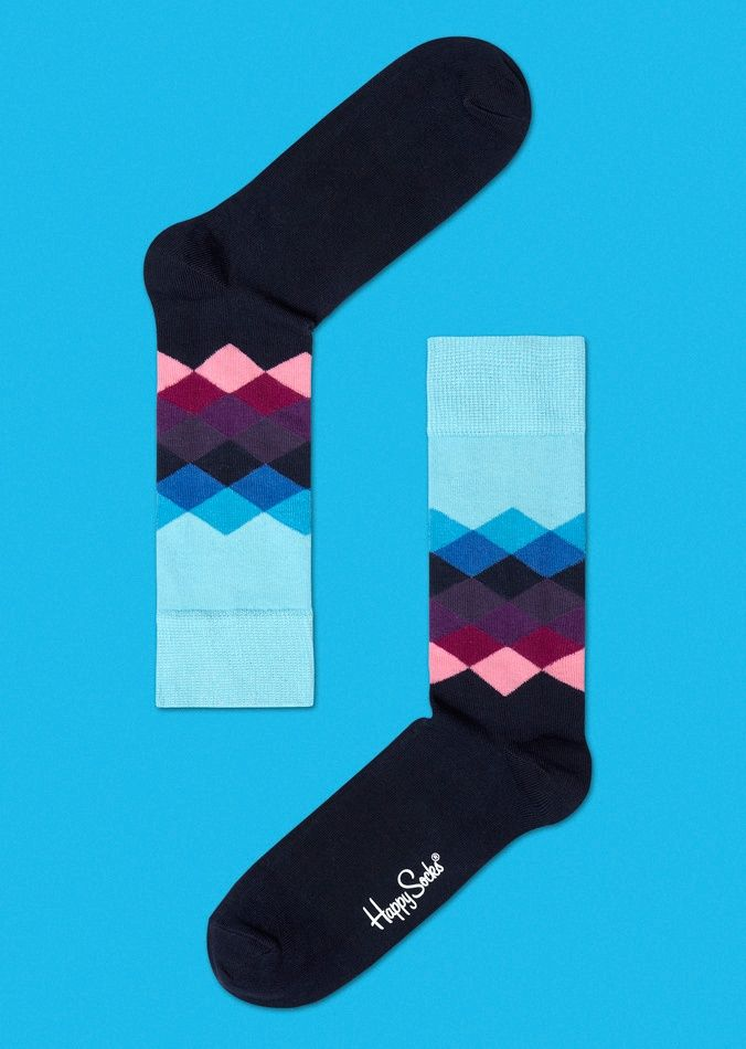 Happy Socks Faded Diamonds