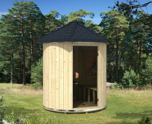 Saunatonnen für Gärten mit wenig Platz