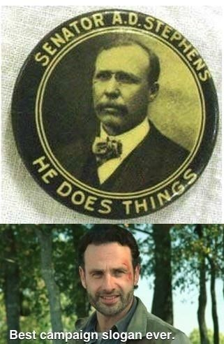 Campaign approved by Rick Grimes