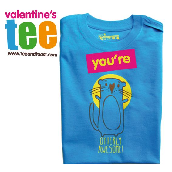 You're utterly awesome tee. perfect valentine's tee by teeandtoast.com