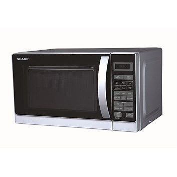 Briscoes Sharp R60a0s Microwave Oven And Grill Silver