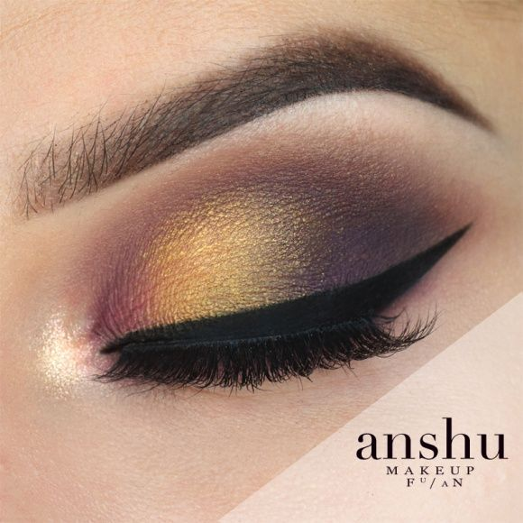 1. Sweep 'fairytale' through the crease. 2. Apply 'motown' to the outer and inner corner of the lid and blend through the crease and lower lash line. 3. Ap