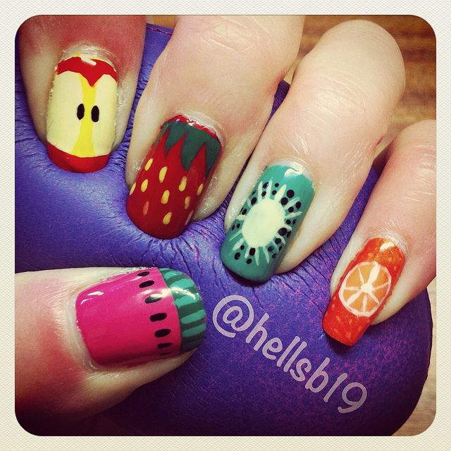Adorable And Cute 15 Ideas For Your Fruit Manicure
