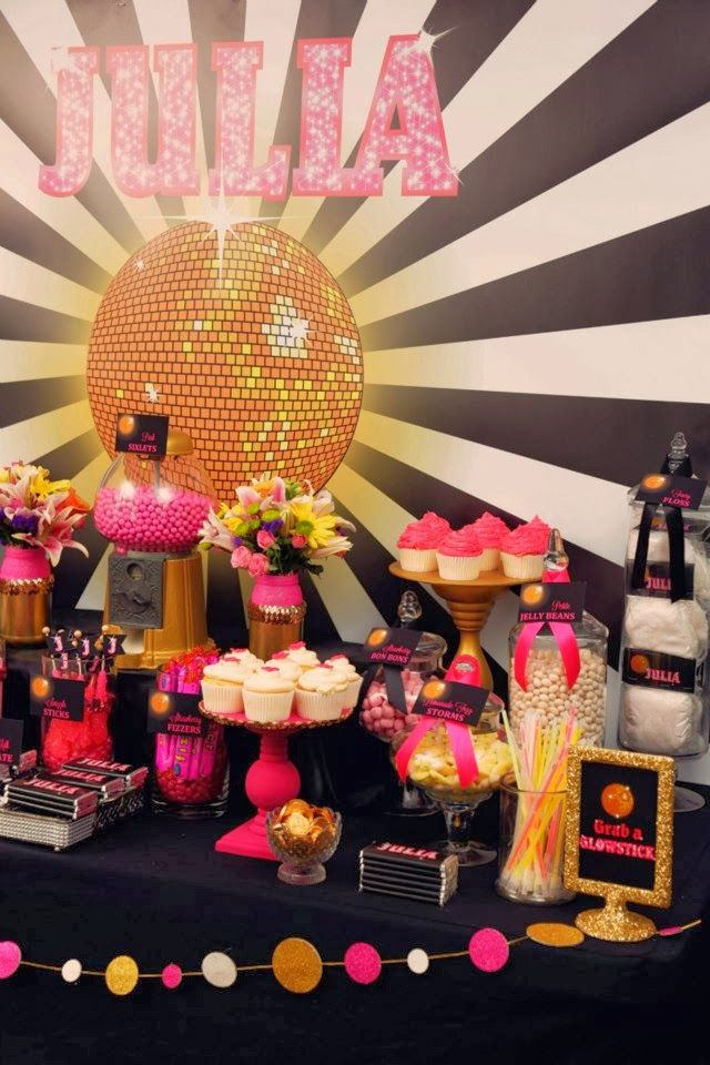 Little Big Company   The Blog: A Fabulous Disco Glam Party by Sensationally Sweet Events