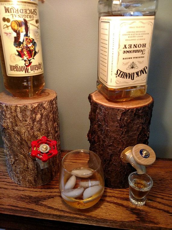 Log Liquor Dispenser New and Improved by OhioWoodworkingShop
