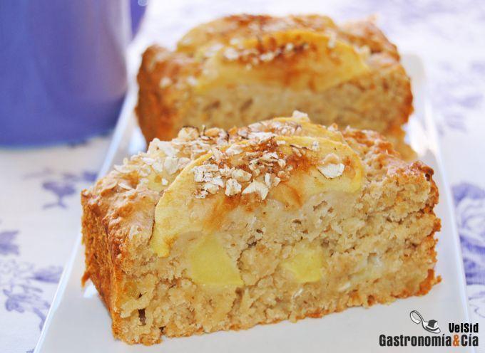 Bizcocho de manzana, avena y miel (sin huevo)