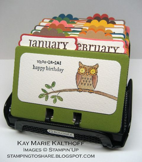 Rolodex Birthday File by Speedystamper - Cards and Paper Crafts at Splitcoaststampers