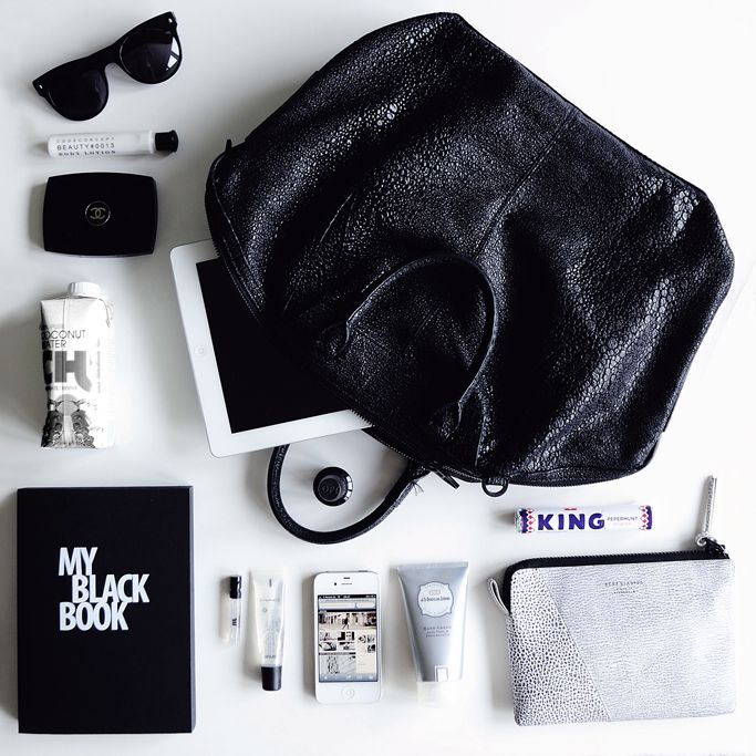 WHAT'S IN MY BAG | COTTDS with a #myblackbook by #nava design available at www.HEIMELIG-SHOP.com