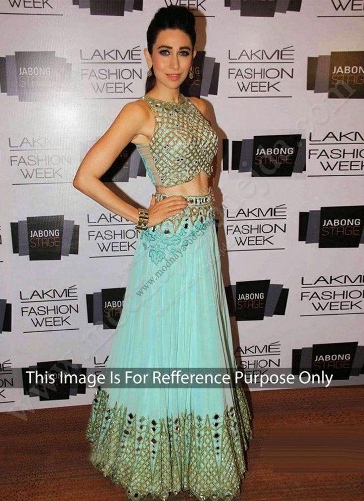 Длинная юбка в пол цвета электрик   топ   накидка (копия наряда звезды Болливуда Каришмы Капур)