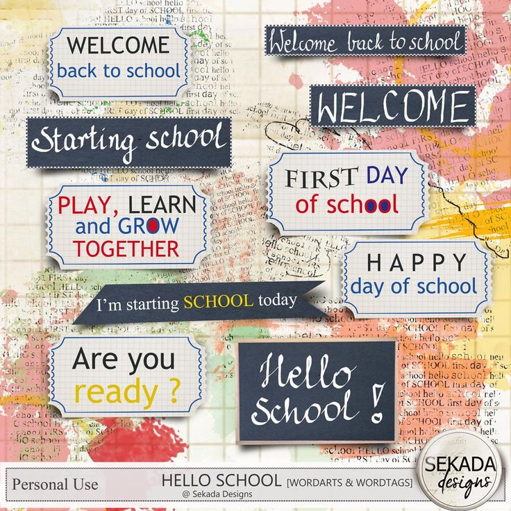 Personal Use :: Kits :: Hello School - Full Kit