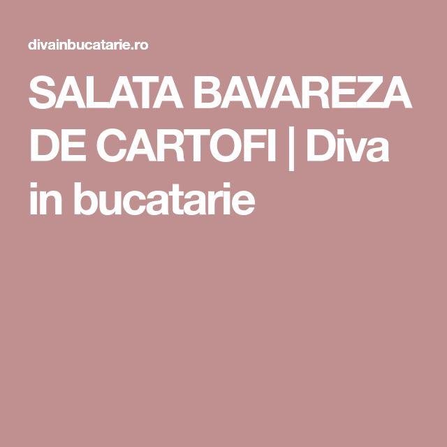 SALATA BAVAREZA DE CARTOFI | Diva in bucatarie
