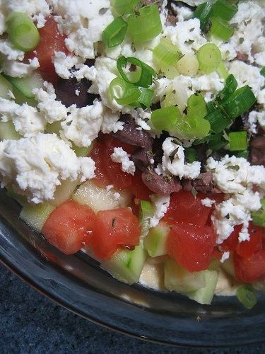 7-Layer Mediterranean Dip #recipe #holiday favorite