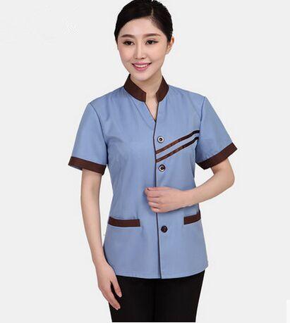 short sleeve cleaner uniform hotel uniform for waiter hotel uniform for waitress hotel reception uniform restaurant clothing