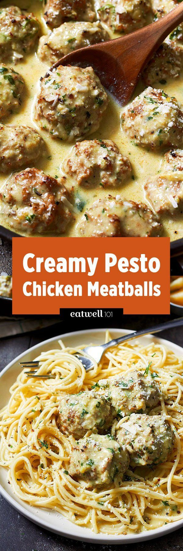 Creamy chicken meatballs - It's comfort food at its tastiest and you can whip it up in about 30 minutes.