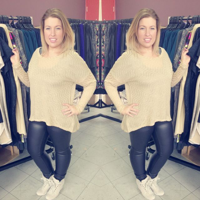 "Icurvy looking glam in our ""disco diva sweater"" & ""wet n wild leggings"" check out her post here http://icurvy.wordpress.com/2013/07/10/harlow-salon-saturday/ 20130709-201816.jpg"