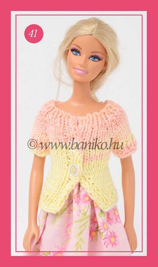 Tutti-frutti kötött Barbie kardigánka