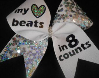 Stunt Like A Boss Cheer Bow w/ BLING center by BlingItOnCheerBowz
