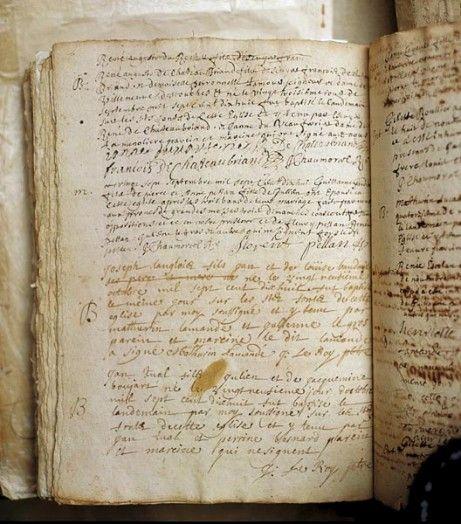 Acte de naissance de René Auguste de Chateaubriand, Guitté