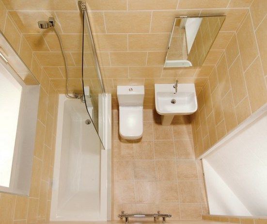 25 ide terbaik tentang kamar mandi kecil di pinterest for Small bathroom ideas 6x6