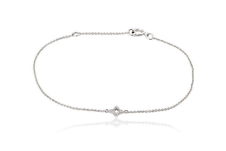 Βραχιόλι με διαμάντια μπριγιάν κοπής 0,04CT από λευκό χρυσό 18Κ. Bracelet with brilliant cut diamonds 0,04CT made by 18K white gold. Price : 300€
