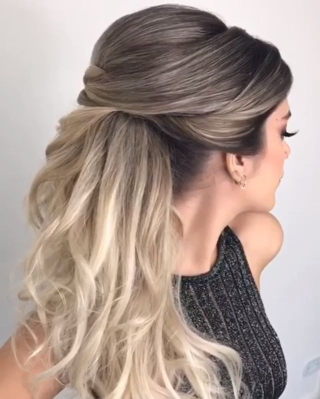 Would You Like To Learn How To Style Your Own Hair Then Just Visit Our New Site Half Up Half Down Wedding Hair Hair L In 2020 Long Hair Styles Hair