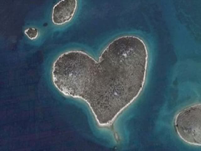 Heart shaped #island Galesnjak #croatia #nature #dream #destinations #places #adventure