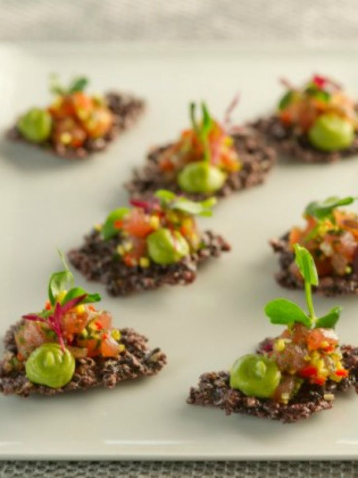 Canapes recipes rice and recipes for on pinterest for Gourmet canape ideas